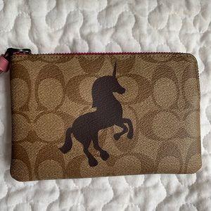 NWT Coach wristlet wallet, unicorn 🦄 design